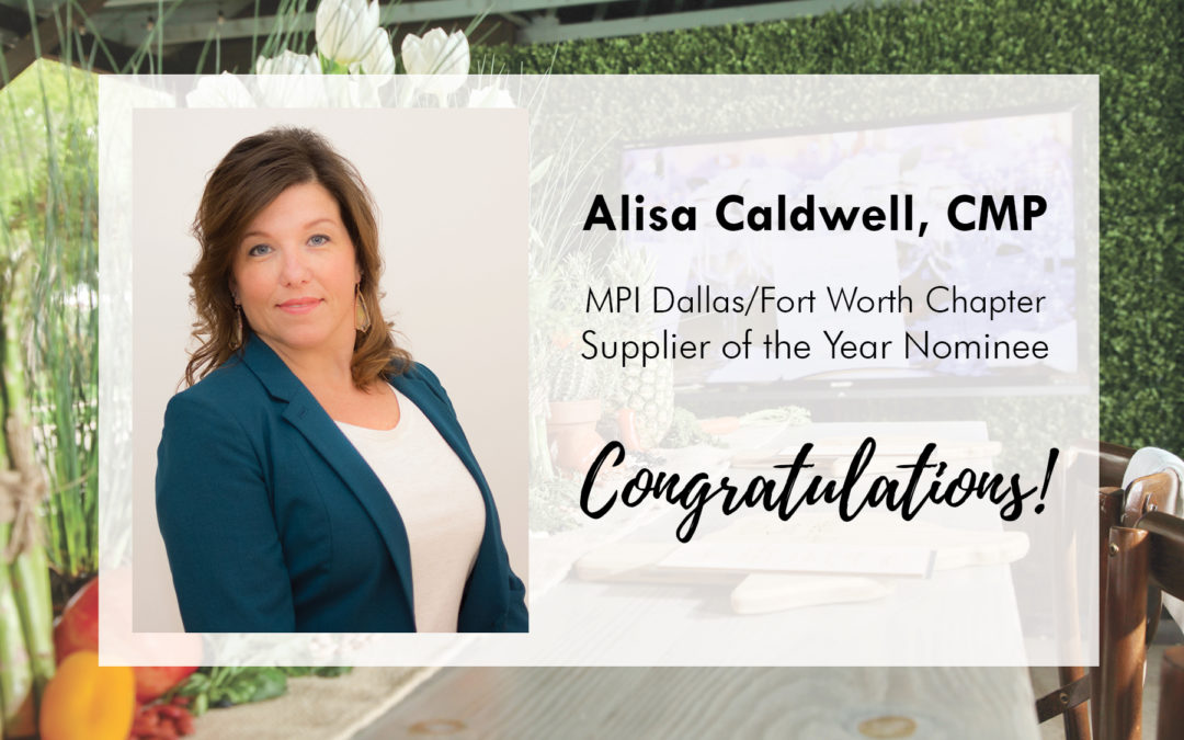 """Alisa Caldwell, CMP: """"Supplier of the Year"""" Finalist!"""